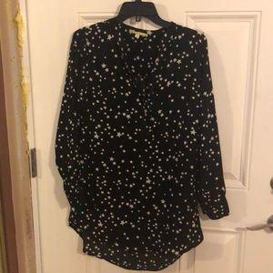 Gianni Bini tunic blouse with stars
